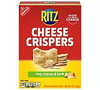 RITZ Cheese Crispers Chips Potato And Wheat Four Cheese & Herb - 7 Oz