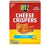 RITZ Cheese Crispers Chips Potato And Wheat Cheddar - 7 Oz
