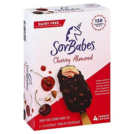 Sorbabes Sorbet Bars Cherry Almond Chocolate - 4-2 Fl. Oz.