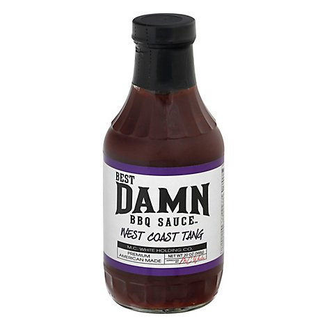 Best Damn Bbq Sauce West Coast Tang - 20 Oz