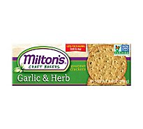 Miltons Cracker Garlc And Herb Crackers - 8.4 Oz
