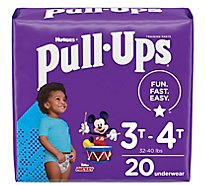 Pull-Ups Potty Training Pants For Boys Size 5 3T To 4T - 20 Count