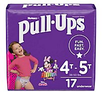 Pull-Ups Potty Training Pants For Girls Size 6 4T To 5T - 17 Count
