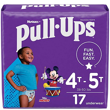 Pull-Ups Potty Training Pants For Boys Size 6 4T To 5T - 17 Count