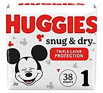 Huggies Snug & Dry Diapers Size 1 - 38 Count