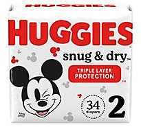 Huggies Snug And Dry Diapers Size 2 Jumbo - 34 Count