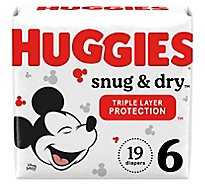 Huggies Snug & Dry Baby Diapers Size 6 - 19 Count