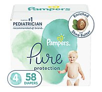 Pampers Pure Protection Diapers Size 4 - 58 Count