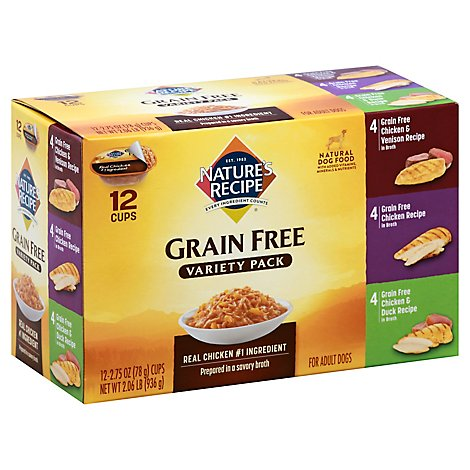 Natures Recipe Grain Free Dog Food Chicken Variety Pack - 12-2.75 Oz