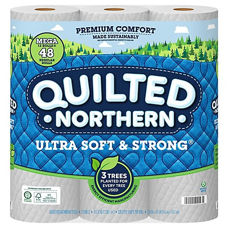 Quilted Northern Ultra Soft & Strong Bath Tissue 12 Mega Roll - 12 Roll