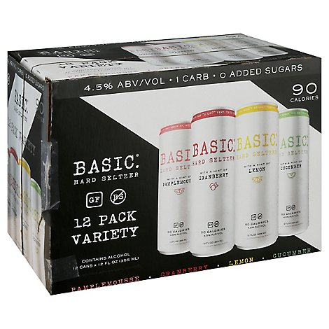 Basic Hard Seltzer Variety In Cans - 12-12 Fl. Oz.