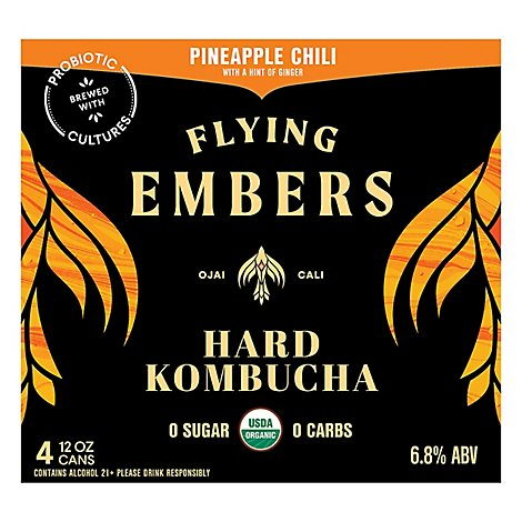 Flying Embers Pineapple Chili In Cans - 4-12 Fl. Oz.