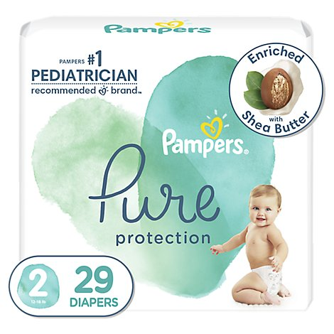 Pampers Pure Protection Diapers Size 2 - 29 Count