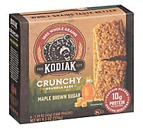 Kodiak Cakes Granola Bars Crunchy Maple Brown Sugar 6 Count - 7.95 Oz