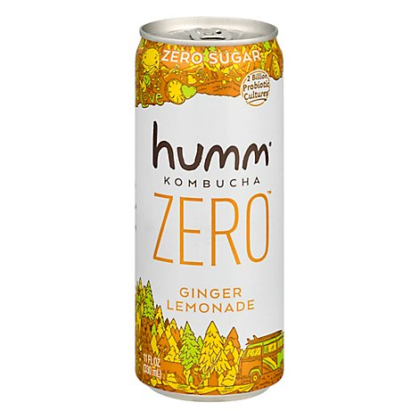 Humm Kombucha Zero Sugar Ginger Lemonade - 11 Fl. Oz.