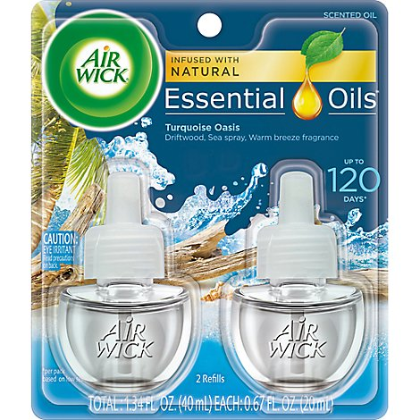 Air Wick Turquoise Oasis Essential Oil Refills - 2-.67 Fl. Oz.