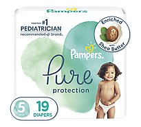 Pampers Pure Protection Diapers Size 5 - 19 Count