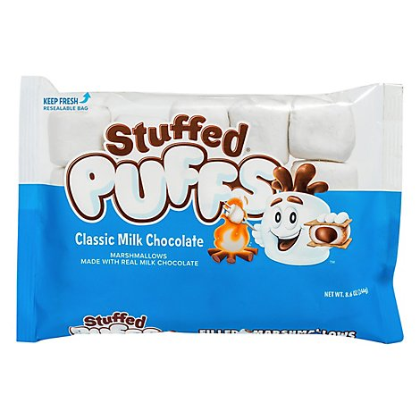 Stuffed Puffs Vanilla Marshmallow Milk Chocolate Center - 8.6 Oz