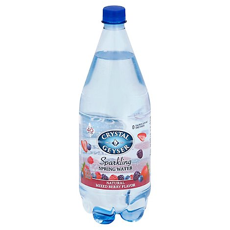Crystal Geyser Spring Water Sparkling Mixed Berry - 1.25 Liter
