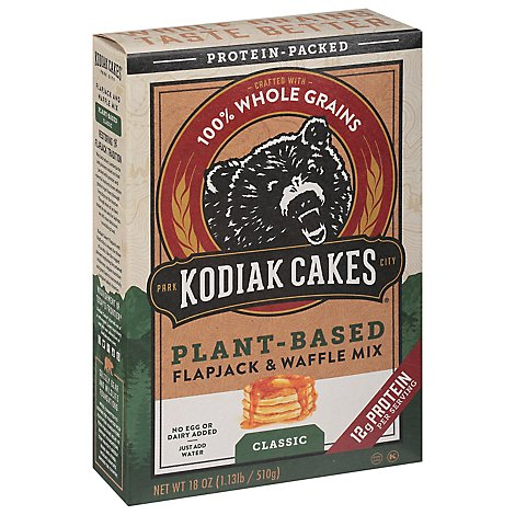 Kodiak Cakes Plant Based Classic Flapjack And Waffle Mix - 18 Oz