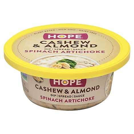 Hope Foods Spinach Artichoke Nut Dip - 8 Oz