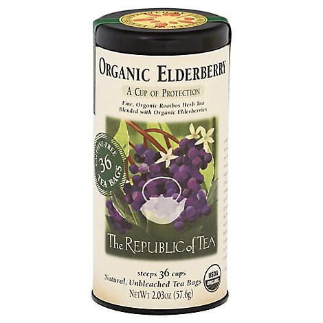 Republic Of Tea Org Elderberry - 36 Count