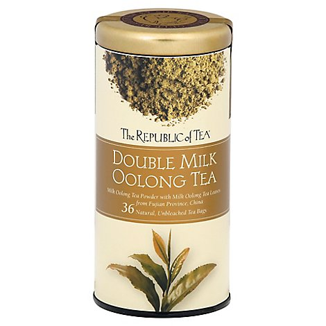 The Republic Of Tea Double Milk Oolong Tea - 36 Count