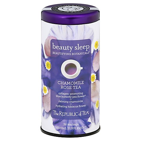 The Republic Of Tea Beautifying Botanicals Beauty Sleep Herbal Tea - 36 Count