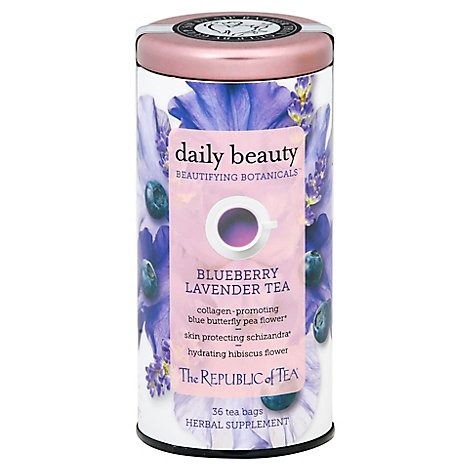 The Republic Of Tea Beautifying Botanicals Daily Beauty Herbal Tea - 36 Count