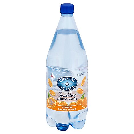 Crystal Geyser Spring Water Sparkling Orange - 1.25 Liter