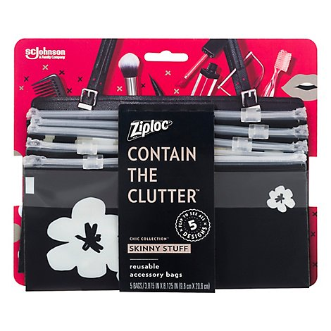 Ziploc Chic Collection Skinny - 5 Count