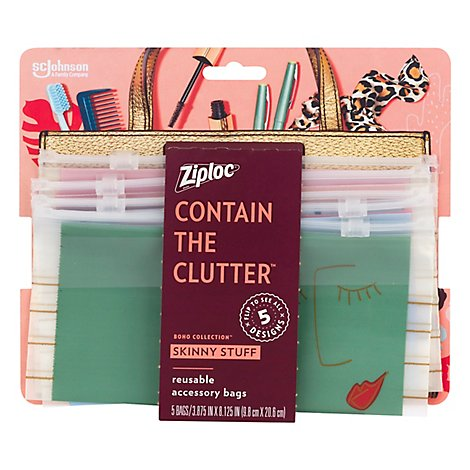 Ziploc Boho Collection Skinny - 5 Count