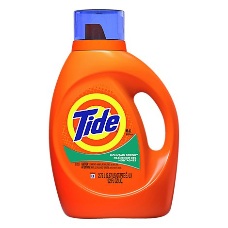 Tide Liquid Detergent HE Mountain Spring - 92 Fl. Oz.