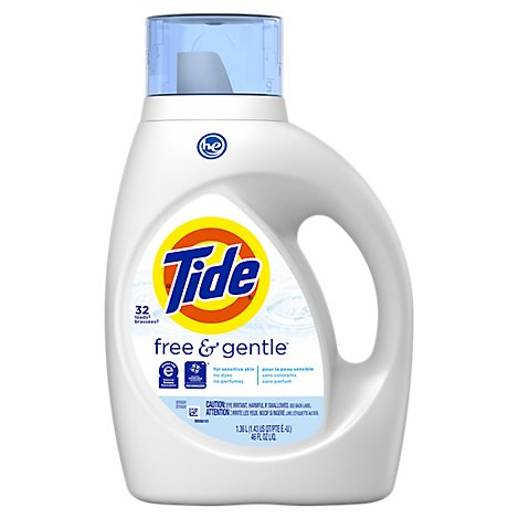 Tide Free & Gentle Liquid Detergent HE - 46 Fl. Oz.
