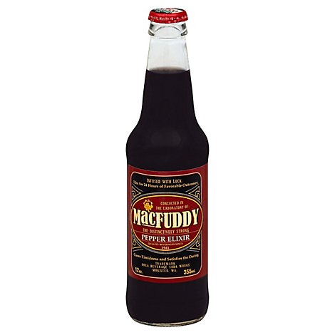 Macfuddy Pepper Elixir Cane Sugar Soda - 12 Fl. Oz.