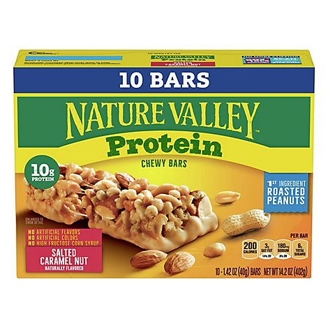 Nature Valley Salted Caramel Nut Protein Chewy Bars 10 Ct - 14.2 Oz