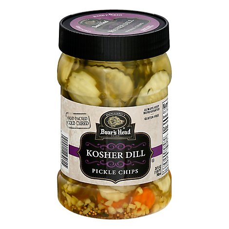 Boars Head Kosher Dill Pickle Chips - 26 Oz