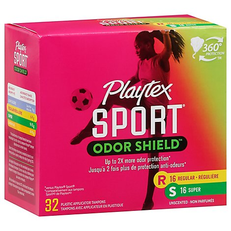 Playtex Sport Odor Shield Multi Pack - 32 Count