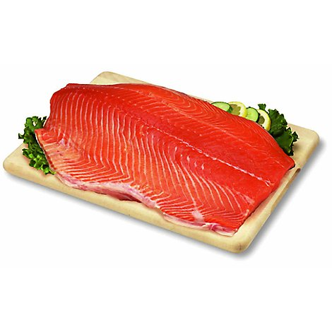 Seafood Counter Salmon Coho Fillets Previously Frozen Service Case - 2.75 LB