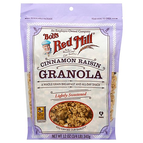 Bobs Red Mill Granola Cinnamon Raisin - 12 Oz