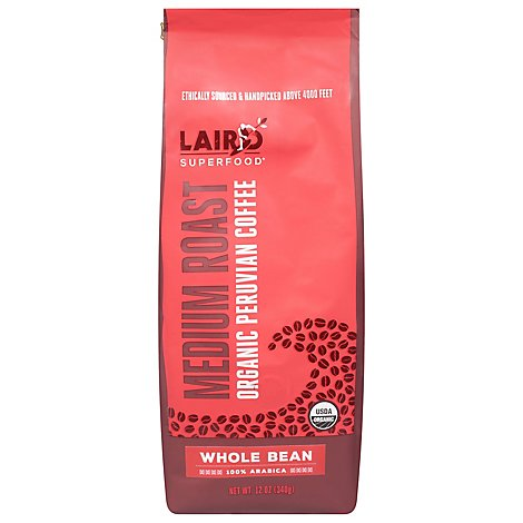 Laird Superfood Coffee Whlbn MD Rst Peru - 12 Oz