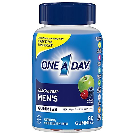 One A Day Mens Vitacraves Gummies - 80 Count