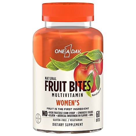 One A Day Fruit Bites For Women - 60 Count