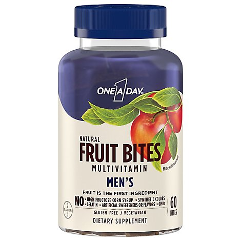 One A Day Fruit Bites For Men - 60 Count