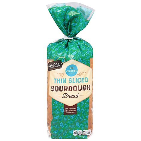 Signature Select Bread Sourdough Thin Sliced - 18 Oz