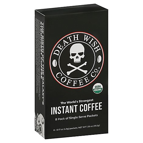 Death Wish Coffee Coffee Instant Packets - 8 Each