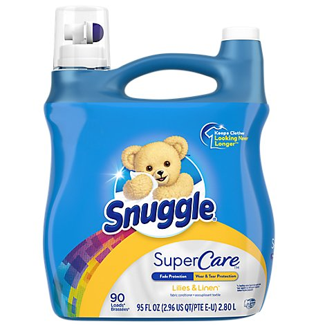 Snuggle Supercare Fabric Softener Liquid Lilies & Linen 90 Loads - 95 Oz