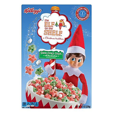 The Elf on the Shelf Breakfast Cereal Sugar Cookie with Marshmallows - 8.1 Oz