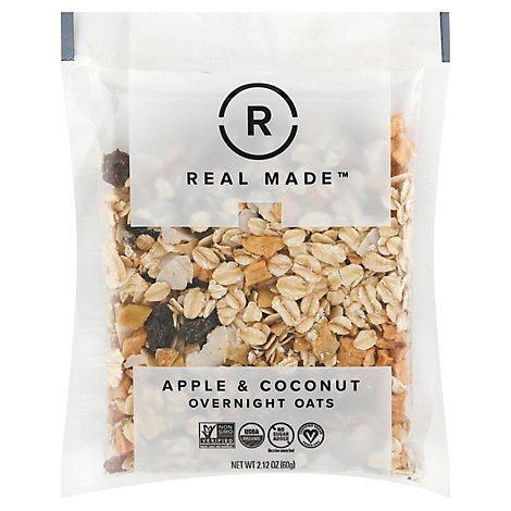 Real Made Oats Apple And Ccnut Sngl - 2.16 Oz
