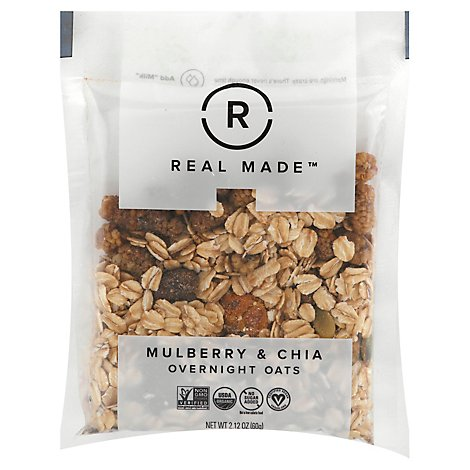 Real Made Oats Mulbry And Chia Sngl - 2.16 Oz
